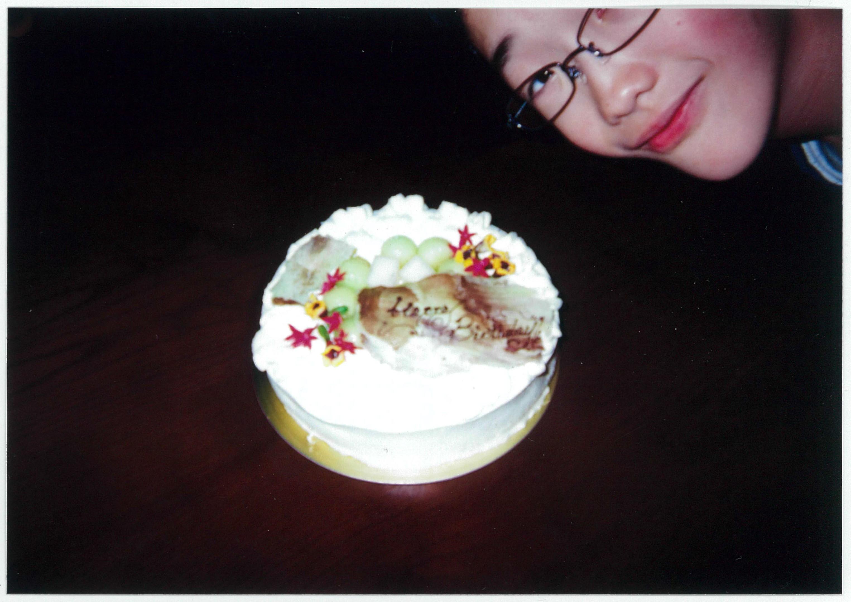 三小鳥の日常の風景 バースデーケーキ